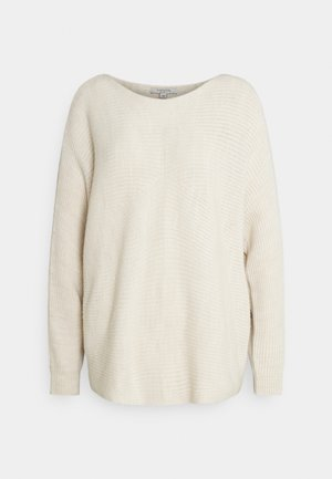 LOOSE FIT - Strickpullover - sand melange solid