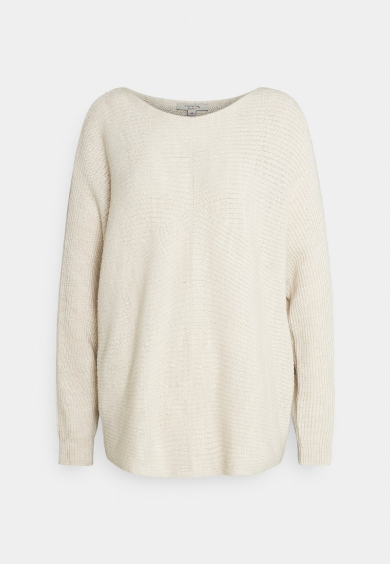 comma casual identity - LOOSE FIT - Jumper - sand melange solid