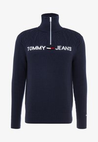 Tommy Jeans - TEXTURED MOCK  - Jumper - black iris - 4