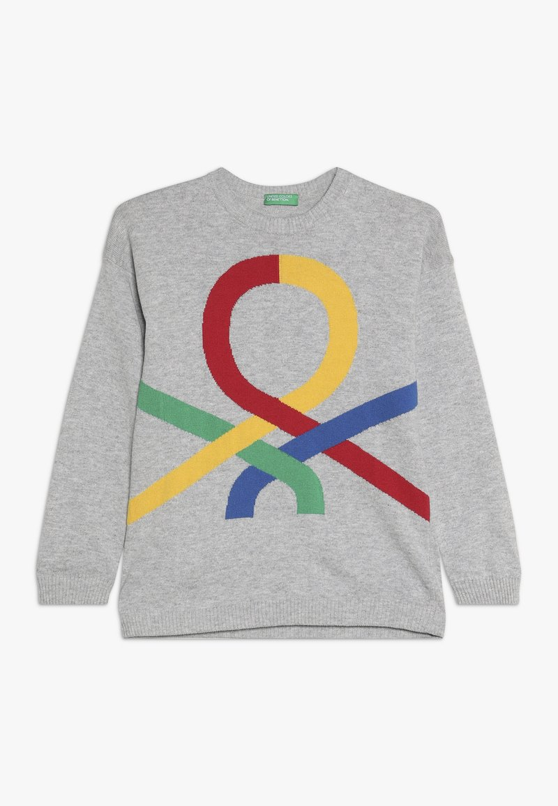 Benetton - Svetr - grey/blue/red