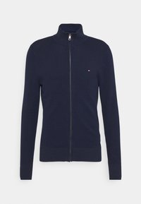 Tommy Hilfiger - FINE STRUCTURED ZIP THROUGH - Gilet - blue - 4