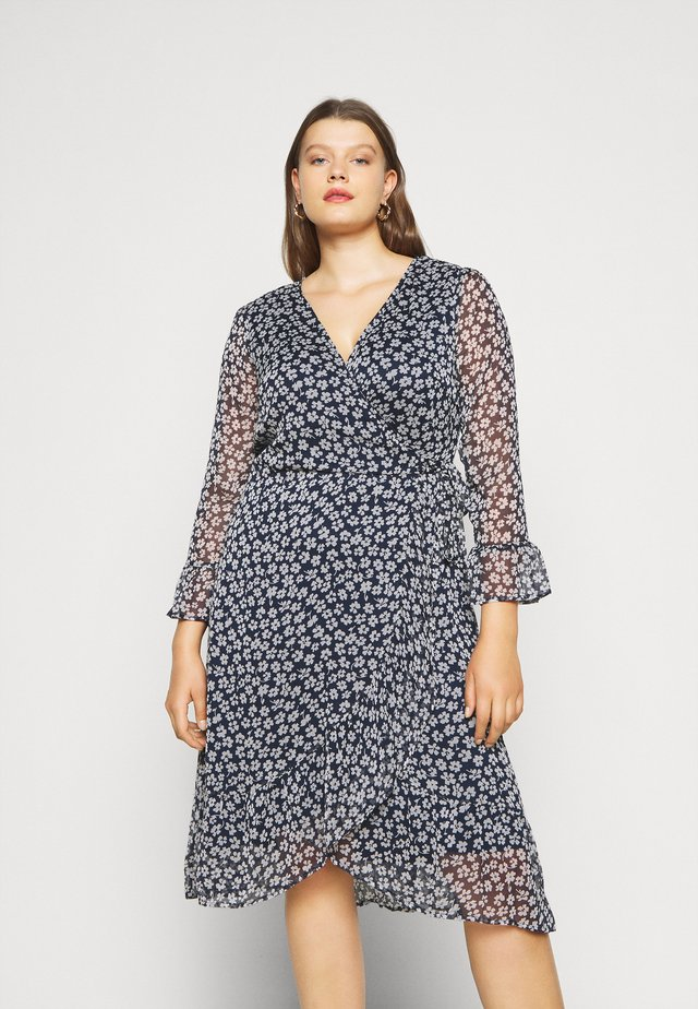 JRLUNA WRAP DRESS - Korte jurk - navy blazer/snow white