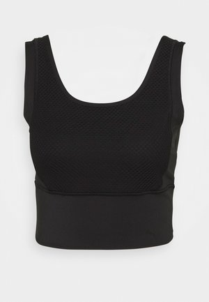 TRAIN CROP TANK - Top - puma black