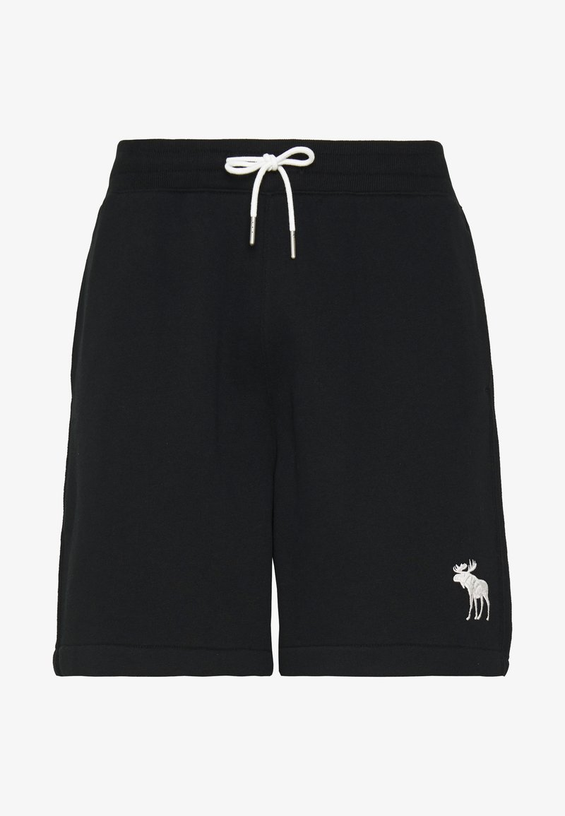 Abercrombie & Fitch - EXPLODED ICON - Tracksuit bottoms - black