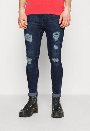 DISTRESSED - Skinny džíny - dark blue
