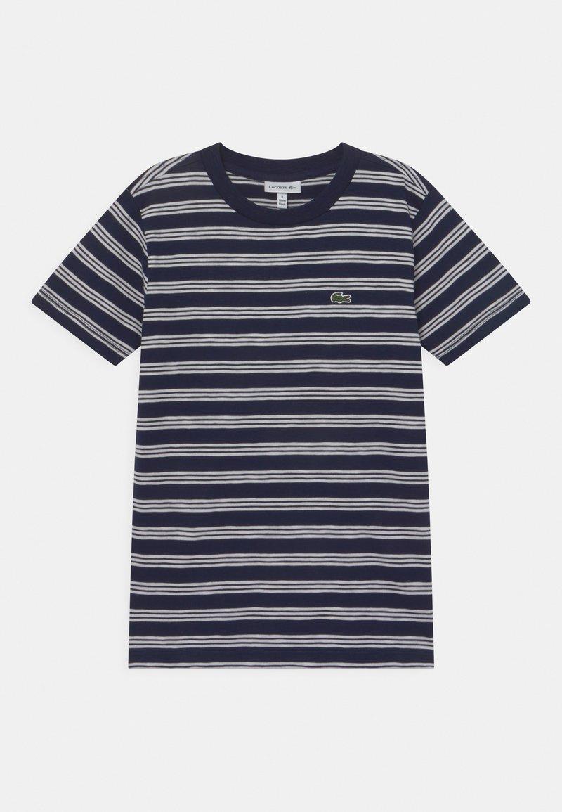 Lacoste - ROLLIS - T-shirt med print - navy blue/flour
