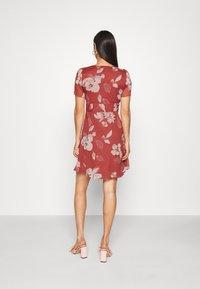 Vero Moda - V NECK DRESS - Day dress - marsala - 2