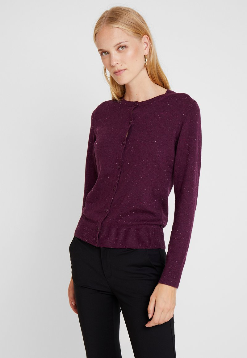 GAP - CREW CARDI - Strikjakke /Cardigans - plum/heather