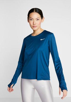 MILER TOP - Sports shirt - valerian blue/reflective silver