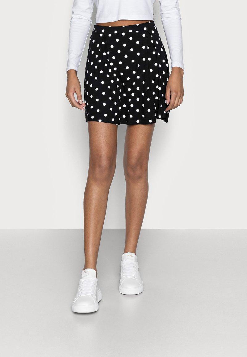 Even&Odd Petite - A-linjekjol - black/multi-coloured