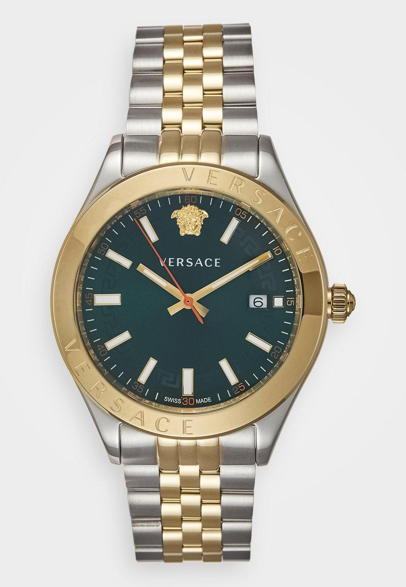 Versace Watches - HELLENYIUM - Montre - green/silver-coloured