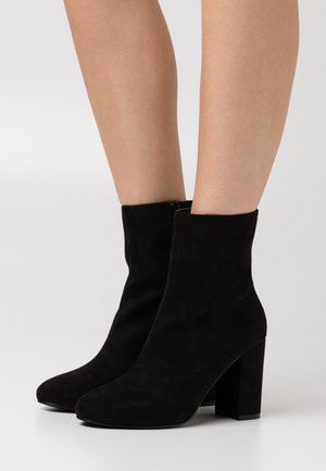 FLIRTY ROUNDED BOOT - High heeled ankle boots - black