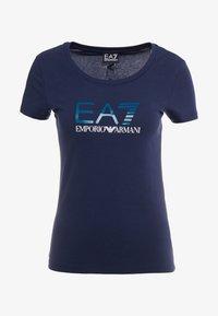 EA7 Emporio Armani - Print T-shirt - navy blue - 3