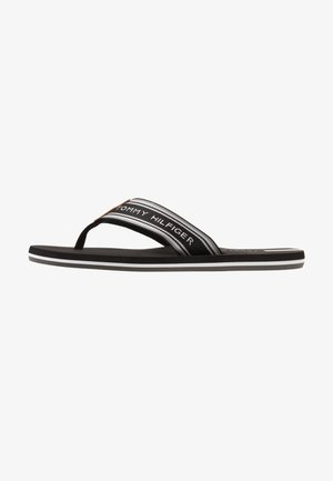 LOGO TAPE BEACH  - T-bar sandals - black
