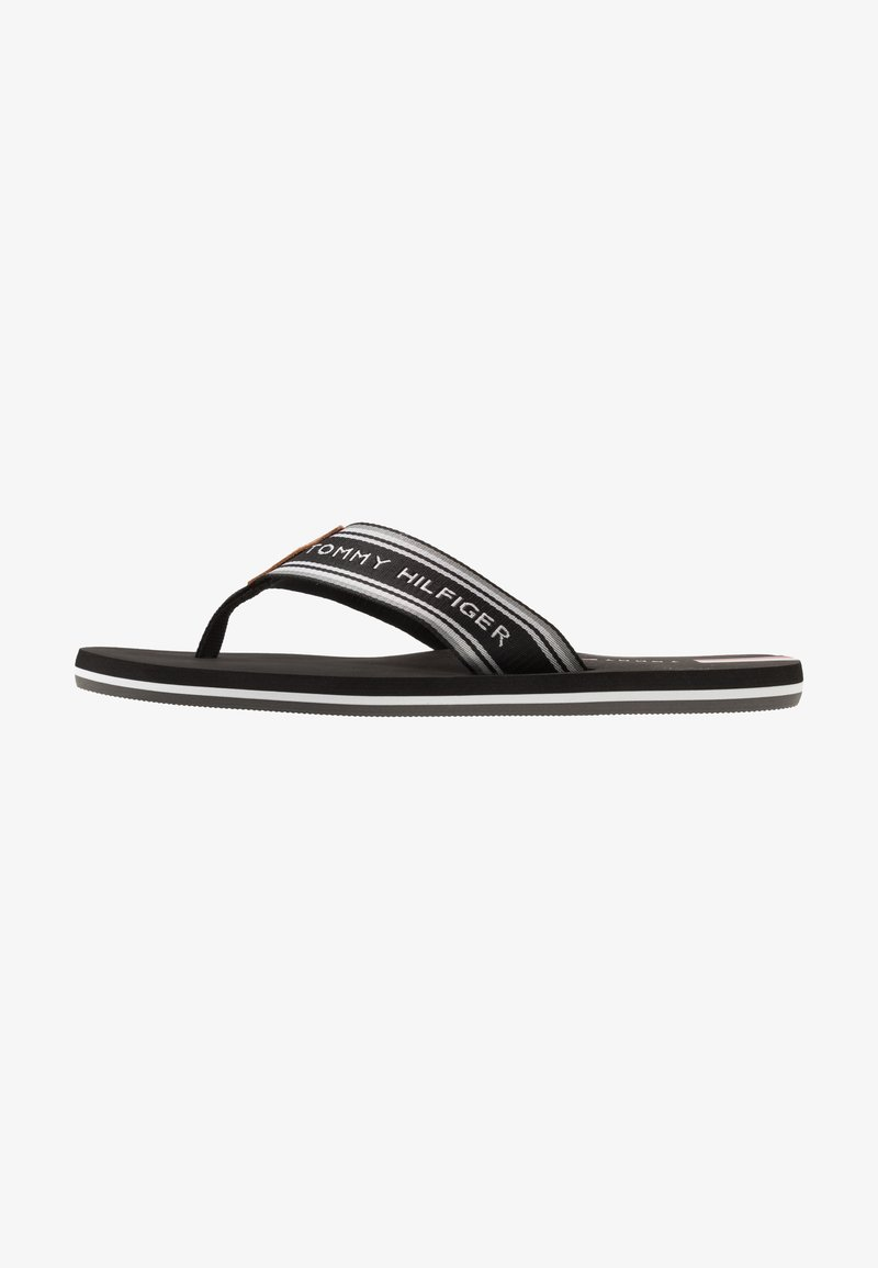 Tommy Hilfiger - LOGO TAPE BEACH  - Sandály s odděleným palcem - black