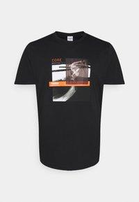 Jack & Jones - JCOTHROUGH TEE CREW NECK - Print T-shirt - black - 0