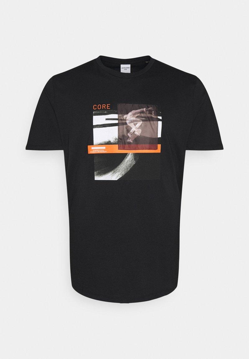 Jack & Jones - JCOTHROUGH TEE CREW NECK - Print T-shirt - black