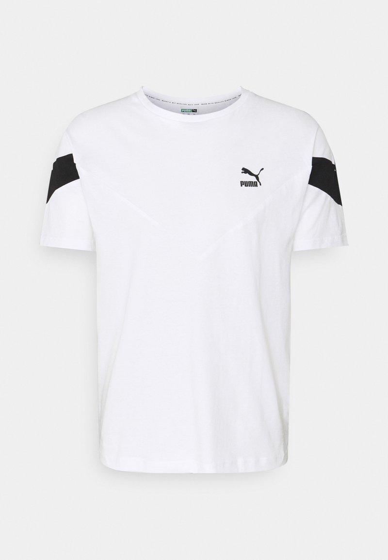 Puma - ICONIC TEE - T-shirt con stampa - white