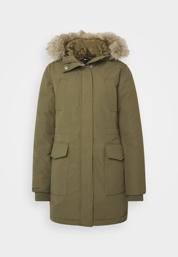 TECHNICAL  - Down coat - olive tree