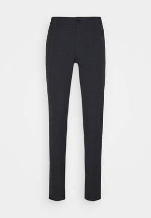 SLHSLIM STORM FLEX SMART PANTS - Pantalon classique - dark sapphire/check