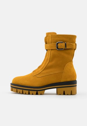 BOOTS - Platform ankle boots - mustard