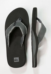 Quiksilver - MONKEY ABYSS - Slippers - grey/black/brown - 1