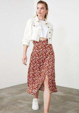 A-line skirt - orange