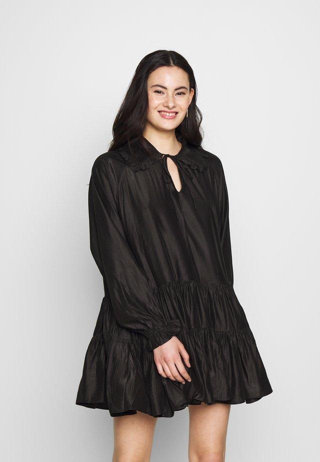 MINI V NECK TIERDRESS - Day dress - black