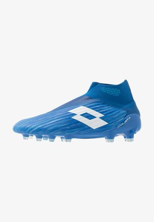 SOLISTA 100 III GRAVITY FG - Moulded stud football boots - diva blue/all white/skydiver blue