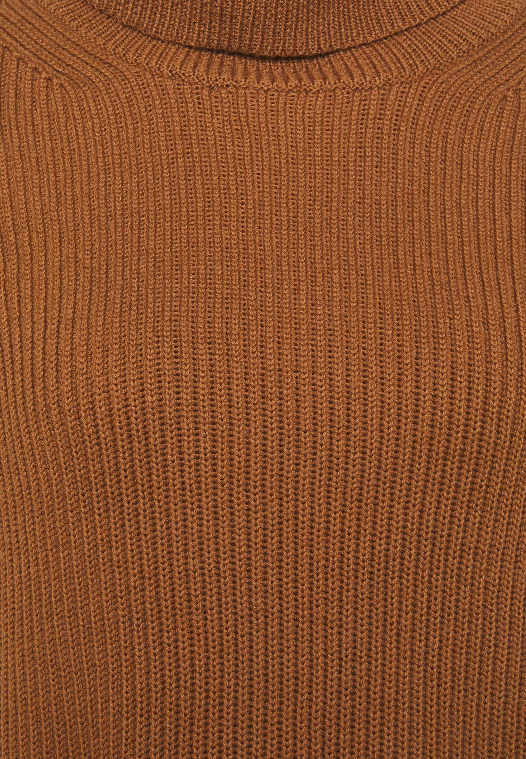 BAREN Stickad tröja golden camel