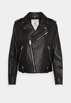 ICON MOTO - Leather jacket - black