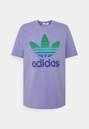 TREF OMBRE UNISEX - Print T-shirt - light purple