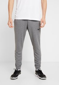 Nike Performance - DRY PANT TAPER - Træningsbukser - charcoal heathr/black - 0