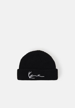 SIGNATURE FISHERMAN BEANIE - Muts - black