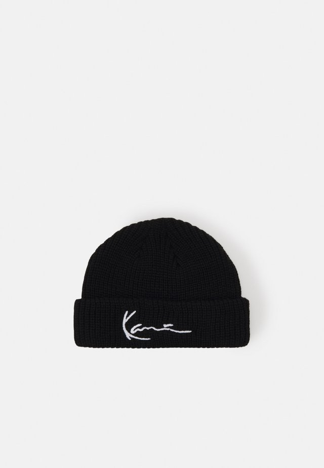 SIGNATURE FISHERMAN BEANIE - Mütze - black
