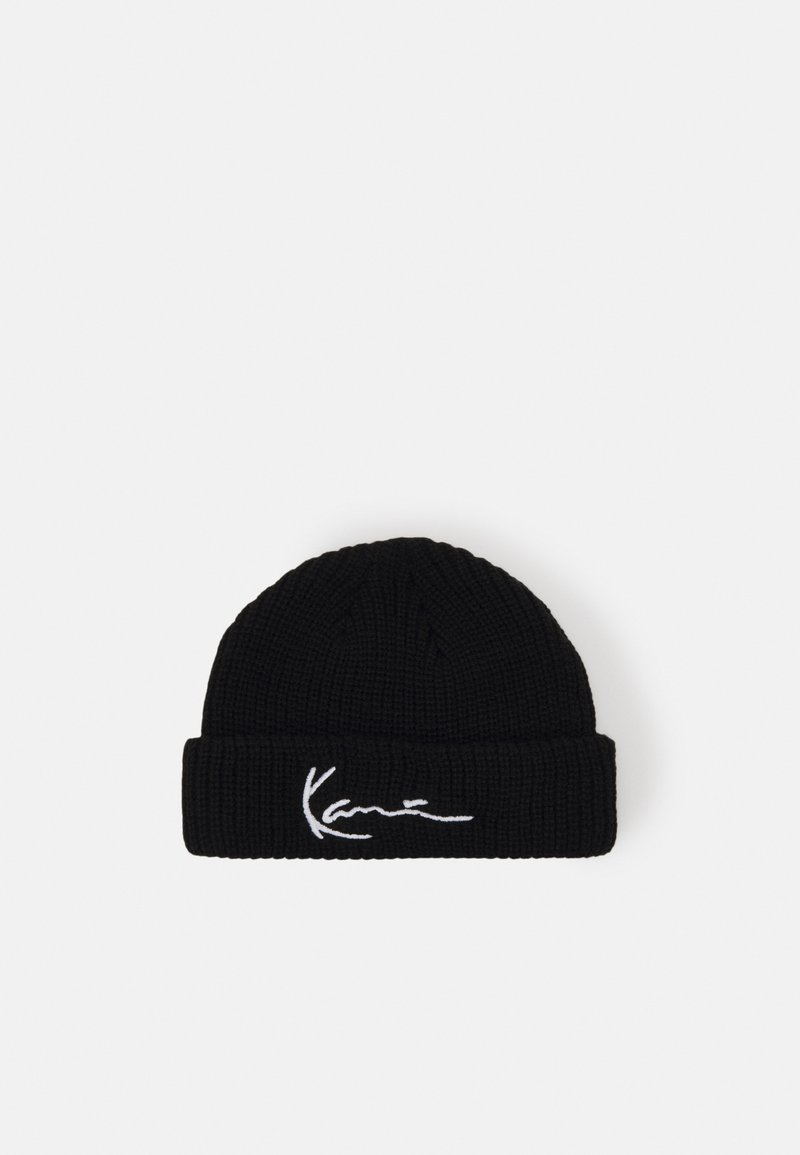 Karl Kani - SIGNATURE FISHERMAN BEANIE - Czapka - black