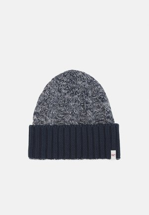 CABLE BEANIE - Čepice - grey/blue