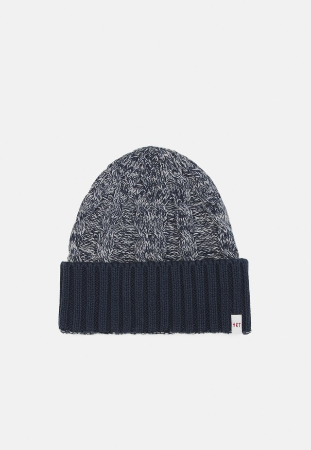 CABLE BEANIE - Pipo - grey/blue