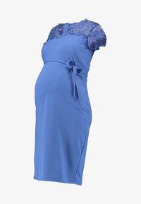 MAMALICIOUS - MLBLACKIE MIVANA CAP DRESS - Vestido de tubo - mazarine blue - 4