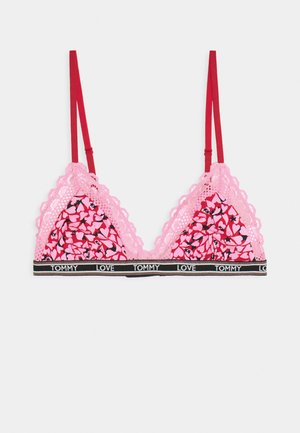 TRIANGLE BRALETTE HOLIDAY PRINT - Triangel BH - heart violet
