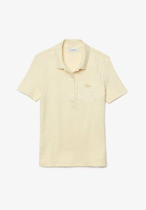 Poloshirt - beige / weiß