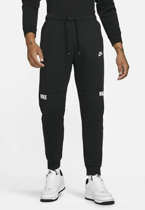LIFESTYLE ESSENTIALS FRENCH TERRY JOGG - Träningsbyxor - black/black/white