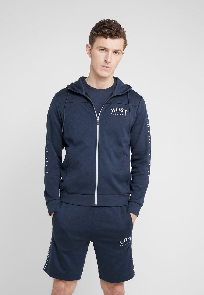 BOSS - SAGGY WIN - Zip-up hoodie - blue/silver