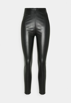 PANNELLED TROUSERS - Legíny - black