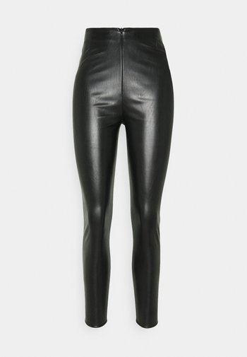 PANNELLED TROUSERS - Leggings - black
