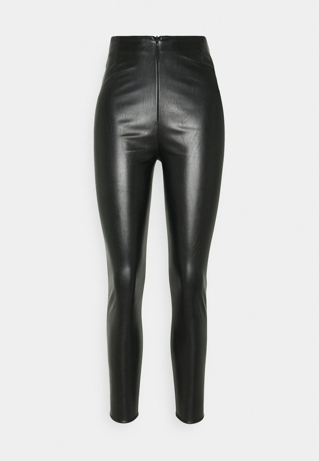 PANNELLED TROUSERS - Leggings - black