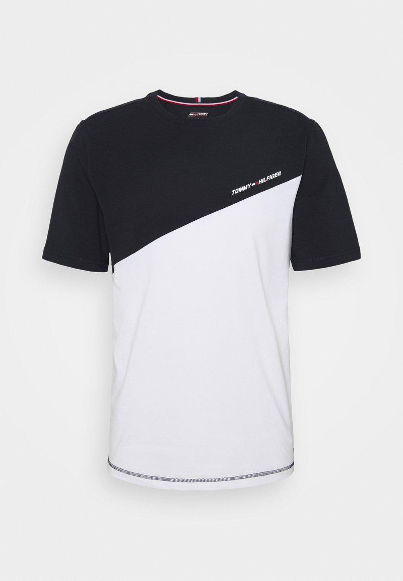 Tommy Hilfiger - BLOCKED TEE - T-shirt imprimé - white