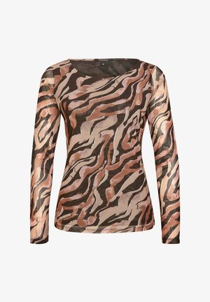 Long sleeved top - black zebra lines