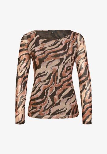 Long sleeved top - black zebra lines