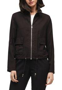 s.Oliver BLACK LABEL - MIT DURCHZUGKORDEL - Summer jacket - true black - 3